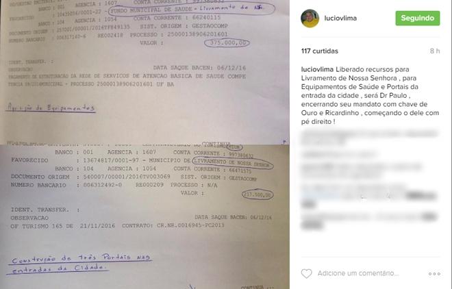 Deputado Lúcio Vieira Lima destina emendas para Livramento de Nossa Senhora