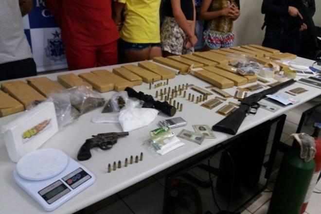 Durante operação da Polícia Civil, quadrilha suspeita de tráfico é presa em Conquista