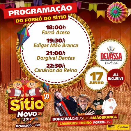 Divulgada a programação oficial do Forró do Sítio Novo 2017; confira os horários