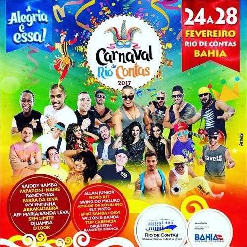 Divulgada todas atrações do Carnaval de Rio de Contas 2017