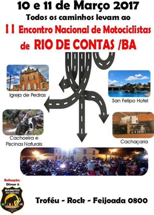 Vem aí o 2º Encontro Nacional de Motociclistas de Rio de Contas