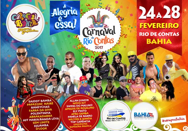 Rio de Contas: Divulgada programação oficial do carnaval 2017