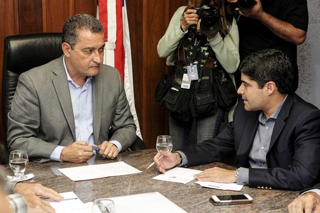 ACM Neto e Rui Costa analisam saída de Geddel do governo