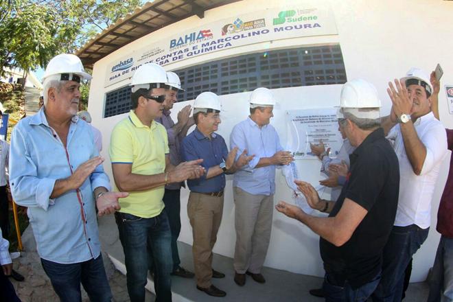 Governador Rui Costa inaugura a ampliação do Sistema de Abastecimento de Água e implantação da adutora de água tratada, no município de Rio de Contas