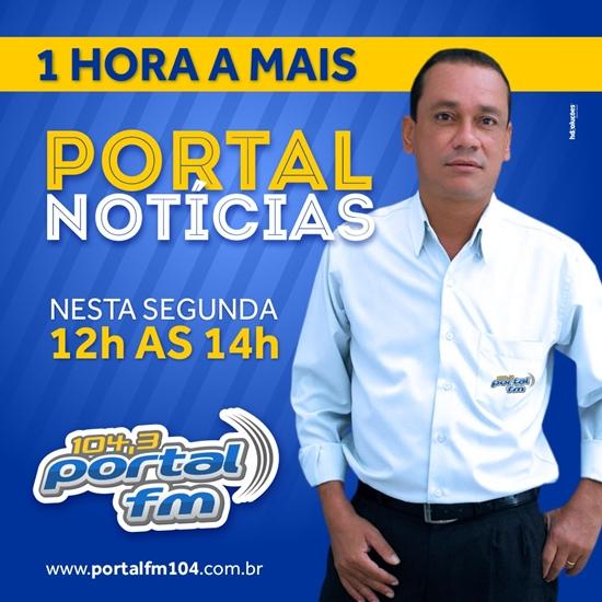 Programa Portal Notícias ganha mais uma hora diária na programação vespertina da Rádio Portal FM 104,3
