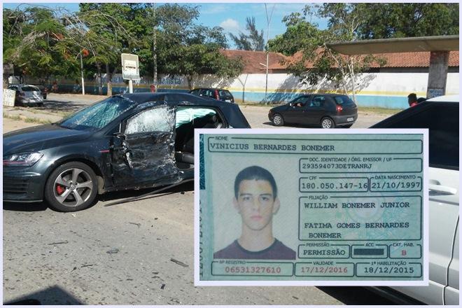 Filho de Willian Bonner e Fátima Bernardes se envolve em acidente com caminhão e ônibus