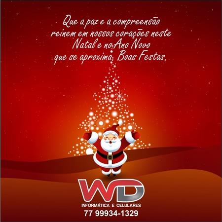 Mensagem de Natal da Loja WD Informatica e Celulares