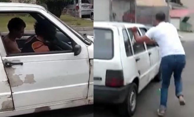 Ousadia: Dupla algemada consegue fazer ligação direta em carro e foge